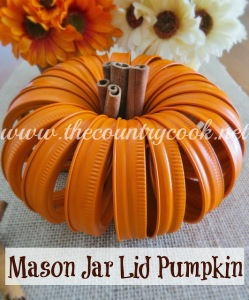 Mason Jar Lid Pumpkin (copyright, with graphics, www_thecountrycook_net)